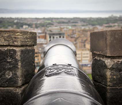 Cannon at Edinburgh Castle